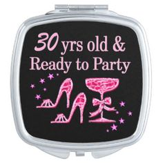 SPARKLING 30TH DIVA COMPACT MIRROR http://www.zazzle.com/jlpbirthday/gifts?cg=196417169045419345&rf=238246180177746410 #30yearsold #Happy30thbirthday #30thbirthdaygift #30thbirthdayidea #30yroldDiva  #happy30th