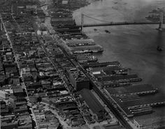Philadelphia, Old Dock St, 1925 (Curved road lower left - Now Society Hill Towers and Sheraton Philadelphia)