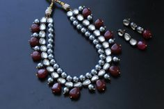 Beaded Kundan Necklace Unique one of a kind by JhumkaJunction