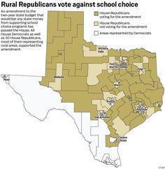 Rural Republicans vote against school choice School Choice, Public Administration, Public Service, Private School, Budgeting, Choices, Texas, Politics, Education