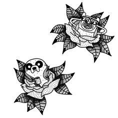 Adventure Time tattoo sketch by DisGreenSquid on DeviantArt – Tattoo Sketches & Tattoo Drawings Adventure Time Tattoo, Time Tattoos, Body Art Tattoos, Sleeve Tattoos, Tatoos, Trendy Tattoos, Small Tattoos, Cartoon Tattoos, Tattoo Project