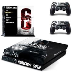 *NEW* Playstation 4 Skin! Rainbow Six Siege Includes : - (2) Controller Skins - (1) Console Skin