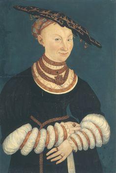 ❤ - LUCAS CRANACH (1472 - 1553) - Portrait of Katharina von Mecklenburg - 1547. Veste Coburg Castle.