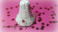 ❄ Zvoneček Pletený Z Papírových Ruliček (bell Knitted From Paper Rolls) ❄