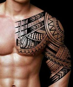 Cool Tribal Tattoo Designs and Meanings - Best Tribal Tattoos For Men - Cool Tri. - Cool Tribal Tattoo Designs and Meanings – Best Tribal Tattoos For Men – Cool Tribal Tattoo Desi - Half Sleeve Tribal Tattoos, Tribal Tattoos For Men, Trendy Tattoos, Cool Tattoos, Rib Tattoos, Female Tattoos, Ankle Tattoos, Star Tattoos, Tribal Chest Tattoos