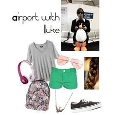 Airport with Luke, created by unfperrie on Polyvore