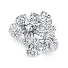 Gemstone Ring – Park Ave CZ Vintage Flower Ring : Jewelry Fashion
