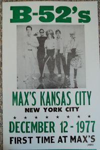 B-52's at Max's Kansas City, 1977 | www.nodigasiconoporfavor.com