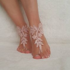 Excited to share the latest addition to my #etsy shop: beach wedding lace barefoot sandals bridal shoes bangle flexible wrist accesories wedding bangles anklets bridal wedding bridesmaids gifts https://etsy.me/2yBLo4v