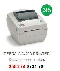 ZEBRA GC420D PRINTER Desktop label printers