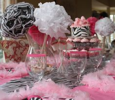 Hot Pink with Zebra Party