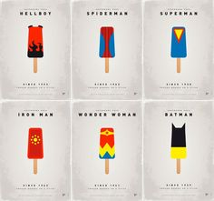 Frozen Superheroes On A Stick by Chungkong