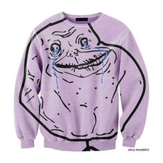 forever alone sweater found on Polyvore