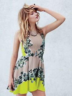 Shakuhachi Acid Bloom Kick Out Dress at Free People Clothing Boutique