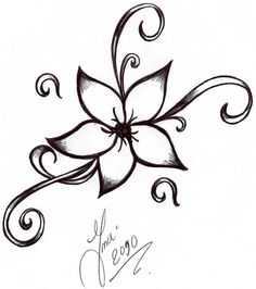 narcissus flower tattoo black and white - Google Search