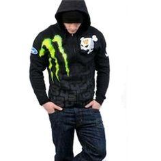 b4d0c5c5b47 Cosplaysky Men s Monster DC USA Ken Block Monster Energy Hoodie Cookie  Jacket