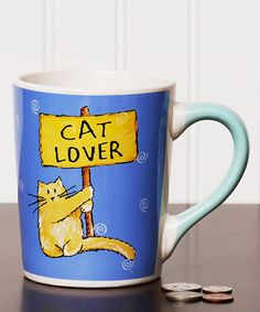 Another great find on #zulily! 'Cat Lover' Mug #zulilyfinds