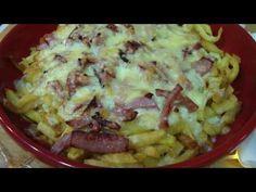 Patatas fritas con bacon y queso - Monsieur Cuisine plus - La doctora cocina - YouTube Lidl, Minis, Guacamole, Cauliflower, Salsa, Vegetables, Cooking, Ethnic Recipes, Fast Recipes