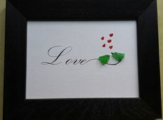 A simple and direct message of love. What a great Valentine gift for your someone special in life. Also a great wedding or shower gift for the bride and groom. Each of these pieces are 5x7, matted and framed. Pick from three different choices.
