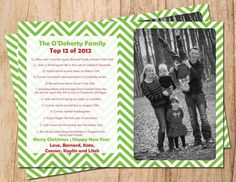Our Year in Review Personalized Photo Holiday by MoonshyneDesigns