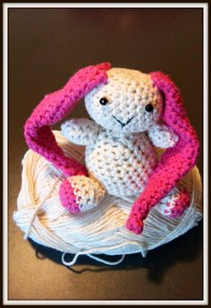 Amigurumi Rabbit For Beginners : Dots & HOOK: Fluff Bunny; Dutch translated to English by ...