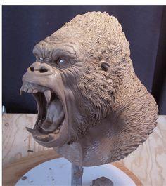 Kong Bust by MarkNewman.deviantart.com on @deviantART