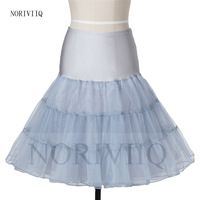 Women 50s Retro Petticoat Gray Crinoline Short Bridal Underskirts Organza Wedding Dresses Prom Skirts Formal Skirts Slip Clothes