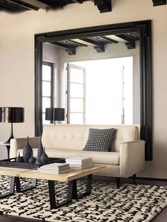 10 Unbelievable Cool Tips: Hanging Wall Mirror Frames standing wall mirror frames.Wall Mirror With Shelf Window wall mirror restaurant chairs. Wall Mirrors Entryway, White Wall Mirrors, Rustic Wall Mirrors, Contemporary Wall Mirrors, Living Room Mirrors, Living Room Flooring, Round Wall Mirror, Living Rooms, Big Mirror In Bedroom