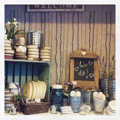 Lots & lots of wedding decorations and accessories in the cottage!!! More online too! www.moss.ie