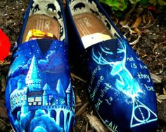 Custom Painted TOMS Harry Potter Shoes