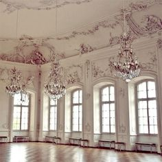 So Romantic- I can just imagine the women floating around this room in their beautiful ballgowns!