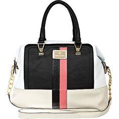 black colour block bowler bag - shoulder bags - bags / purses - women - River Island