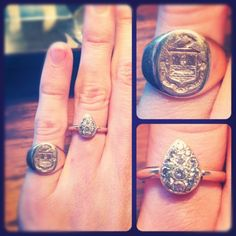 My engagement ring and my future family crest.