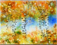 "Daily Paintworks - ""Fall Arrival"" - Original Fine Art for Sale - © Kristen Dukat"