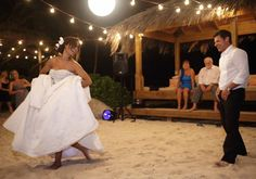 the dress the hair the groom the bare feet the fact that it was on the beach on a private island...ummm, YES!