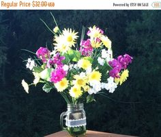 A personal favorite from my Etsy shop https://www.etsy.com/listing/237238401/on-sale-flower-bouquet-mixed-wild-daisy