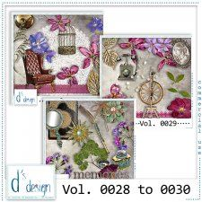 Vol. 0028 to 0030 - Vintage Mix  by Doudou's Design  cudigitals.com cu commercial scrap scrapbook digital graphics#digitalscrapbooking #photoshop #digiscrap