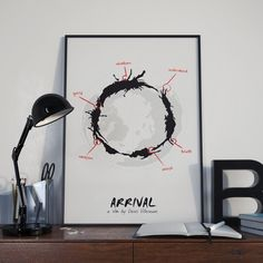 Words Betray Meaning // Arrival Inspired Alternate Movie Poster // Science Fiction Alien Language Iconography and World Map by TheGeekerie on Etsy