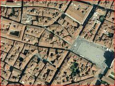 Traza: Organización de la estructura urbana en relación al suelo y vialidad. Village Map, Fantasy City, City Photo, Maps, Urban Design, Fantasy Town, Blue Prints, Map, Cards