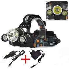 Flashlight - Head Lamp - 5000 Lumens - 3 CREE T6 LED Bright Torch Headlight