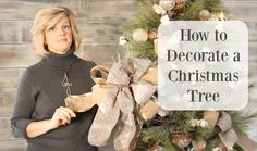 Decorating a Christmas Tree - Easy Step by Step Tutorial from Jennifer Decorates.