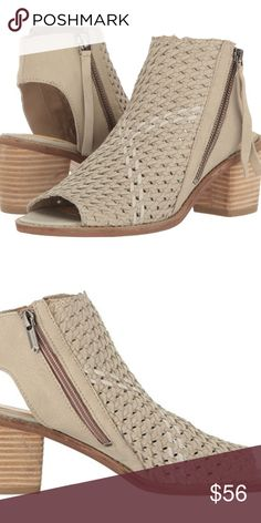 Sam Edelman Cooper SKU: #8871647 Bring your look alive in the Sam Edelman® Cooper peep-toe shootie. Woven leather upper. Side-zipper closure. Rounded silhouette with open toe and heel. Man-made lining and insole. Stacked block heel. Man-made outsole. Imported. Product measurements were taken using size 8.5, width M. Please note that measurements may vary by size. Weight of footwear is based on a single item, not a pair. Measurements: Heel Height: 2 1⁄4 in Weight: 14 oz Circumference: 9 in…