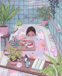 Japon Illustration, Digital Illustration, Aesthetic Art, Aesthetic Anime, Colorfull Wallpaper, Wallpaper Bonitos, Casa Anime, Kawaii Art, Cartoon Art