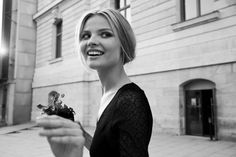 Magdalena Frackowiak, model, classic black and white picture