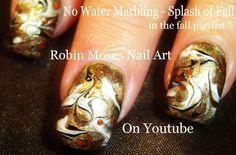 NAIL ART | DIY No Water Marble nail design tutorial - FALL FAIL!
