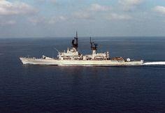 USS 'Biddle' during Operation Desert Shield in November 1991. Navy photo