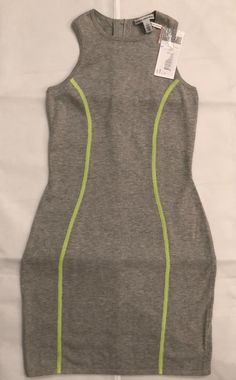 1030dca26 Autumn Cashmere Gray Ribbed with Contrast Short Casual Dress Size 4 (S) -  Tradesy