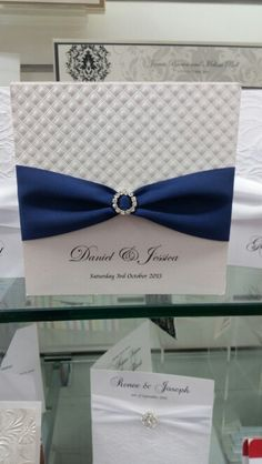Fancy blue invitation