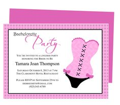 Printable Template for DIY Bachelorette Party Invitations : Corset Bachelorette Party Invitation Template. Download, edit, print.