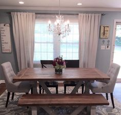Hey, I found this really awesome Etsy listing at https://www.etsy.com/listing/216666798/farmhouse-table-farm-table-and-bench